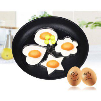 Stainless Steel Fried Egg Shaper Pancake Mould Mold Kitchen Cooking Tools - SILVER PACK OF 4