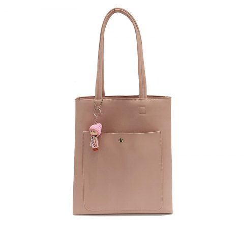 Tide Tote Bag Simple Wild Large Capacity Casual Shoulder Bag - PINK