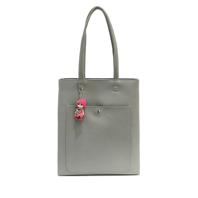 Tide Tote Bag Simple Wild Large Capacity Casual Shoulder Bag - GRAY