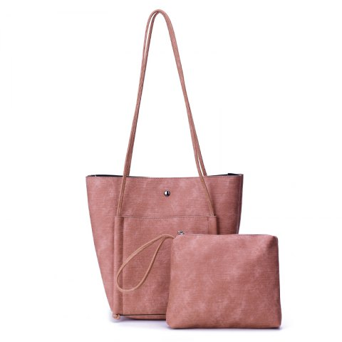 Minimalist Tutu Retro Female Bulk Shoulder Bag Large Capacity Bucket Bag - PINK