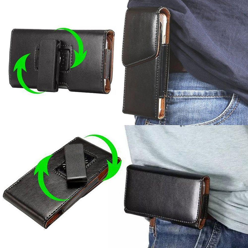 5.7 Inch Universal Case 360 Vertical Rotation Belt Clip For All Smart Phone 5.2-5.7 Inch - BLACK