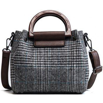 Nut Package Two-Piece Female Woolen Bag Wild Shoulder Messenger Bag - GRAY
