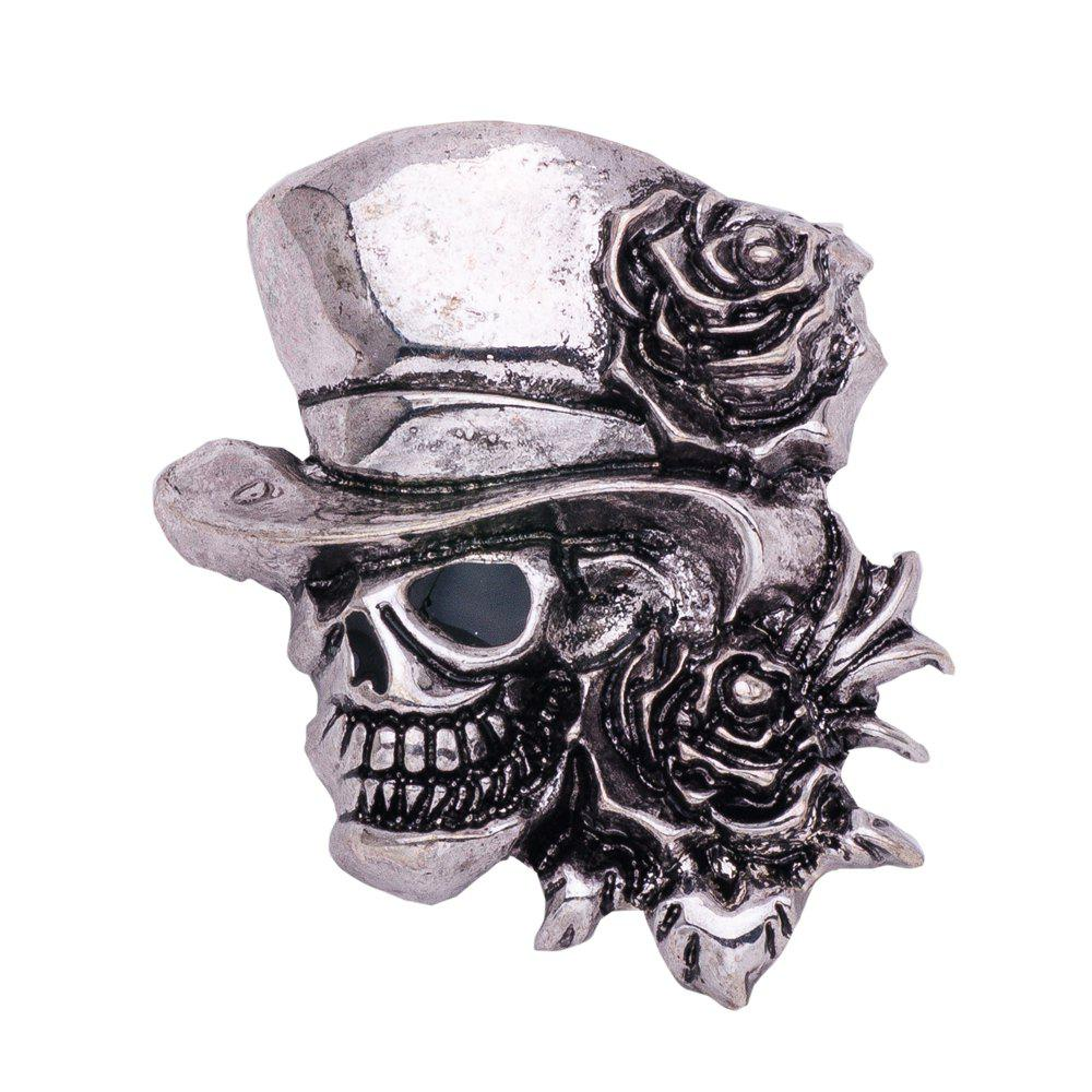 Vintage Brooch For Men Antique Silver Plated Halloween Skull Wings Brooches Pins For Women Collar Accessories Jewelry