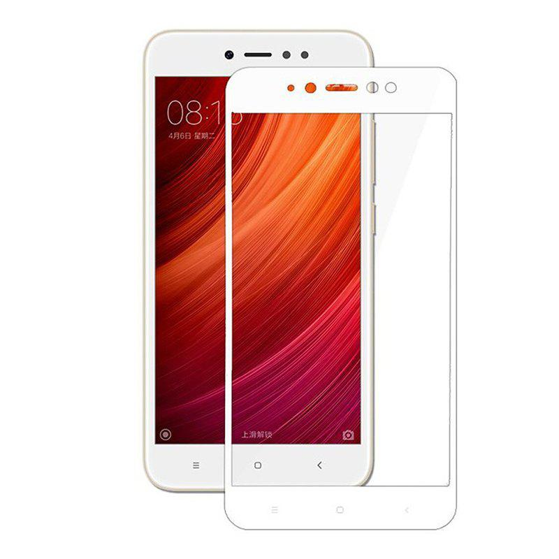 Full screen Tempered Glass Screen Protector for Xiaomi Redmi Note 5A - WHITE