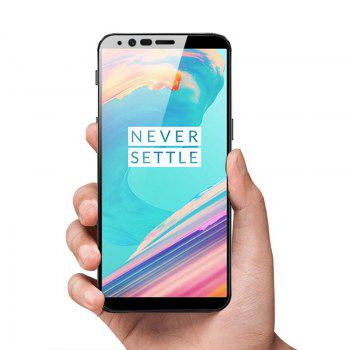Full Coverage Curved Tempered Glass Screen Protector Film for OnePlus 5T - BLACK