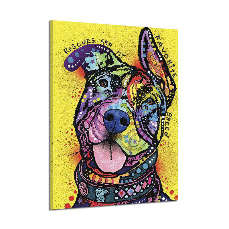 Abstract Frameless Art Canvas Print of Dog for Home Wall Decoration