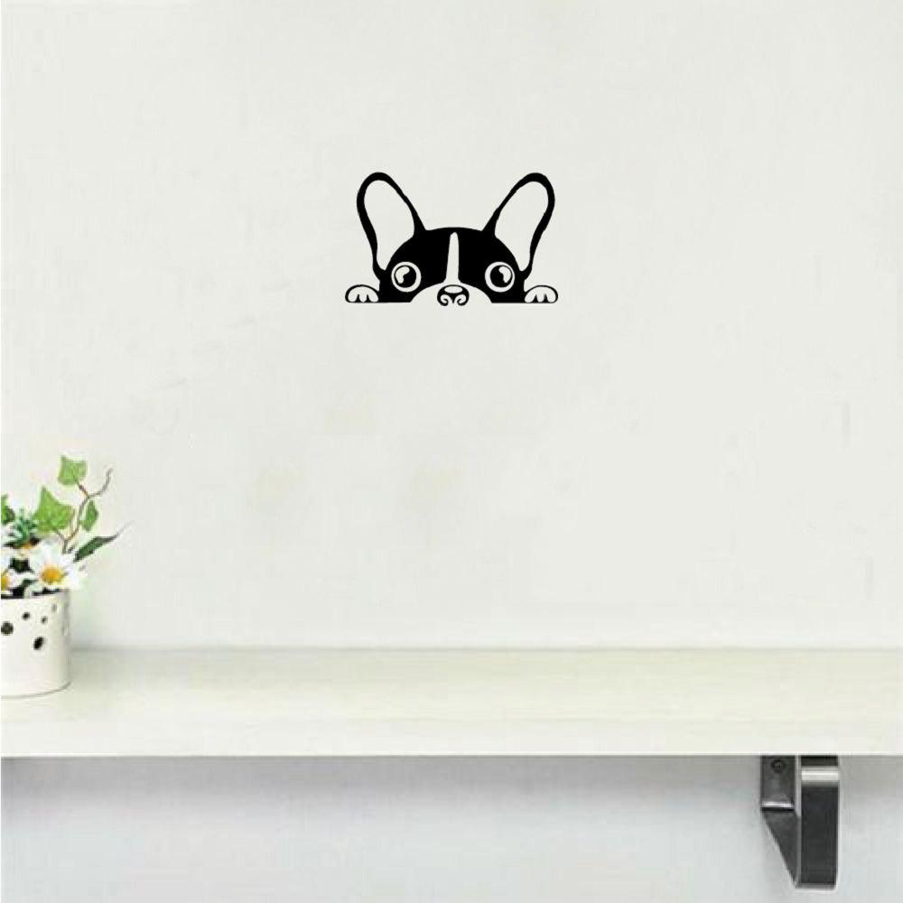 где купить Cute Dog Wall Sticker Creative Cartoon Puppy Vinyl Wall Decal for Kids Room Bedroom по лучшей цене