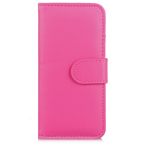 One Hundred Lines Card Lanyard Pu Leather Cover for iPhone 6 plus - ROSE RED
