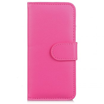 One Hundred Lines Card Lanyard Pu Leather Cover for iPhone 6 plus - ROSE RED ROSE RED