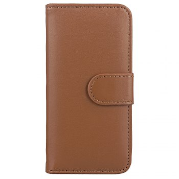 One Hundred Lines Card Lanyard Pu Leather Cover for iPhone 6 plus - BROWN BROWN