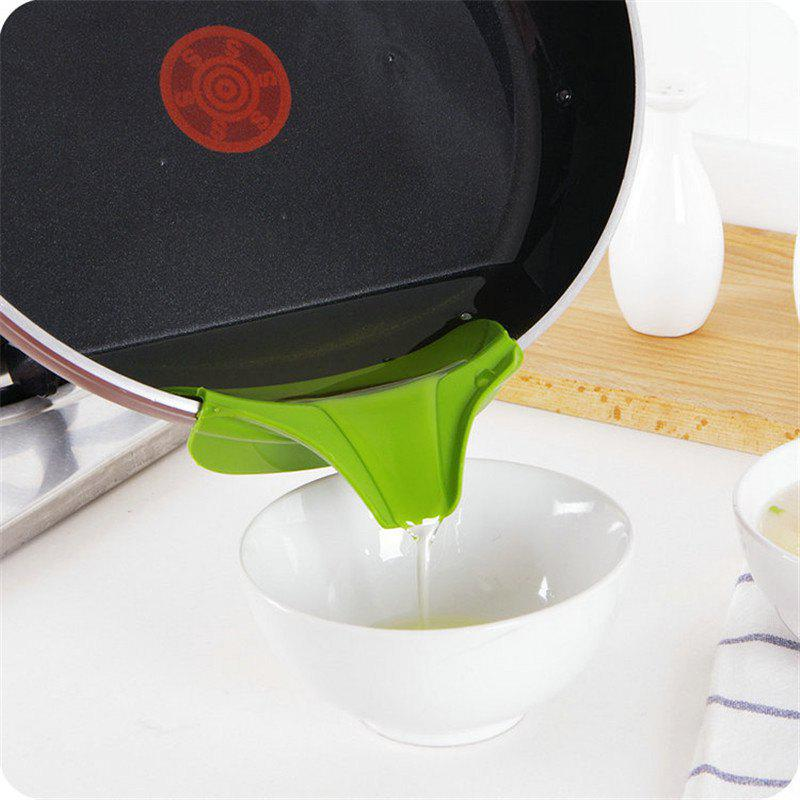 Pot Edge Funnel Creative Useful Silicone Kitchen Tool - GREEN