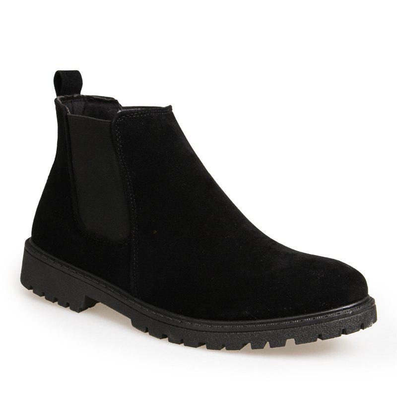 Men British Leisure Fashion Outdoor Shoes Warm Winter Boots - BLACK 40