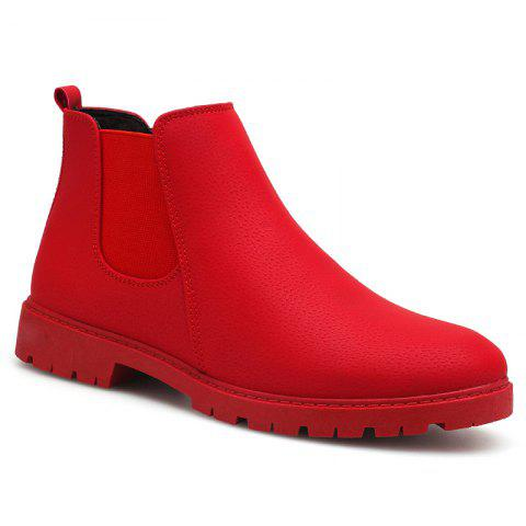 Men snow  boots short shoes - RED 40