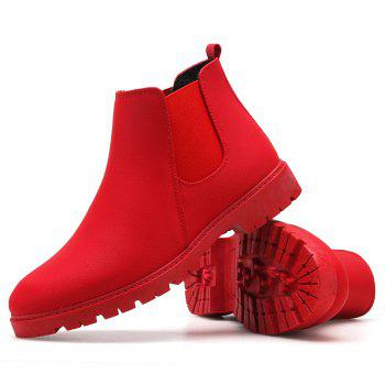 Men snow  boots short shoes - RED RED