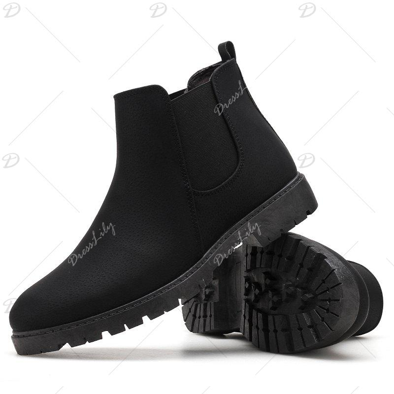 Men snow  boots short shoes - BLACK 44