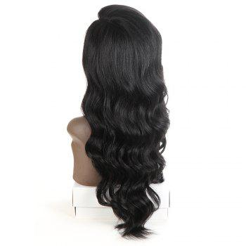 Synthetic Lace Front Long Wavy Wig Ombre color Heat Resistant Fiber Hair Wigs For Women RC0894 - BLACK 22INCH