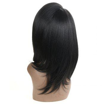 Synthetic Lace Part Long Straight Wavy Wig Ombre color Heat Resistant Fiber Hair Wigs For Women RC0911 - BLACK 18INCH