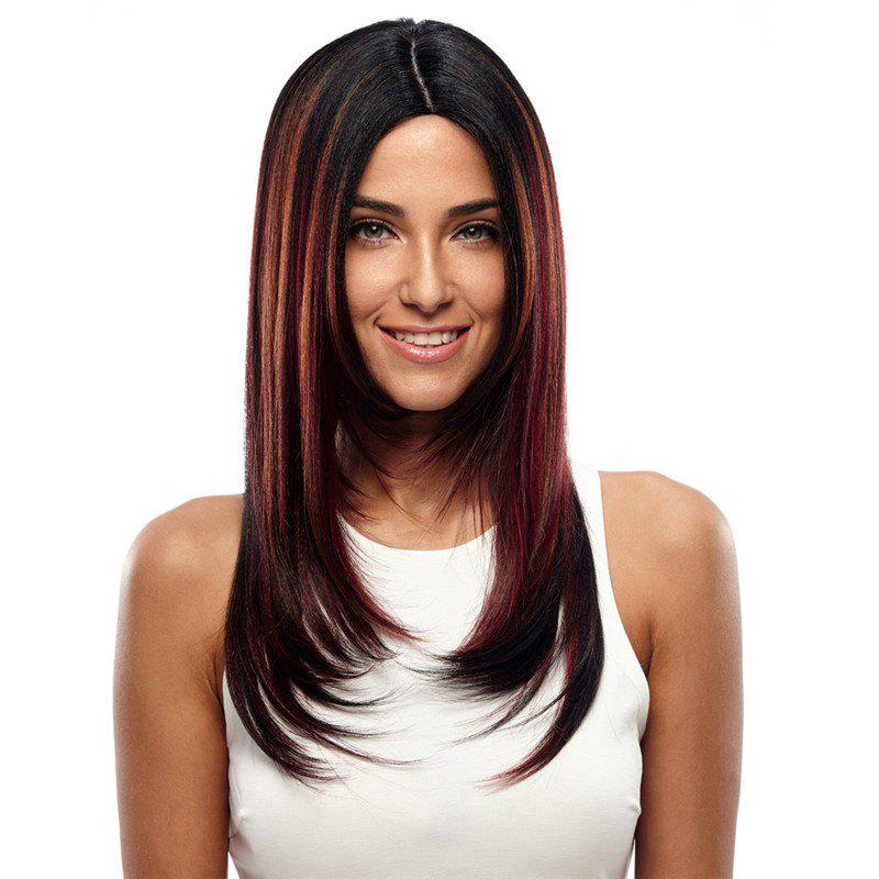 Synthetic Hair Wig Long Straight Ombre 24 Inch RC0670 - DARK AUBURN 24INCH