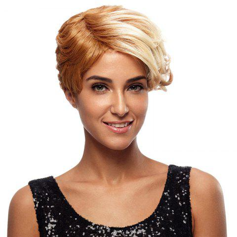 Synthetic Hair Blonde Wig Short Pixie Cut Straight 8 Inch RC0675 - BLONDE 613 8INCH