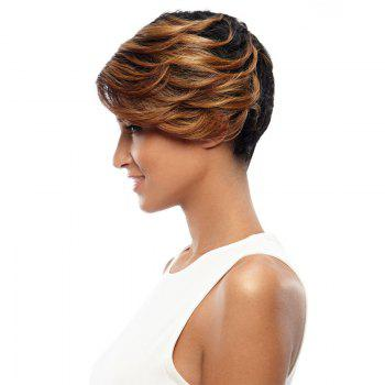 Synthetic Hair Blonde Wig Short Pixie Cut Straight 8 Inch RC0675 - FLAX 8INCH
