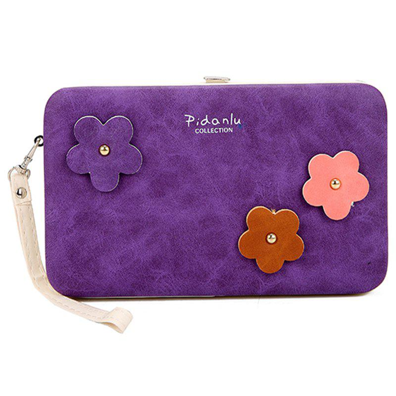 Fashion Purse Wallet Box Mobile phone Bags Female 3D Flower Card Holders Women Clutch Bag