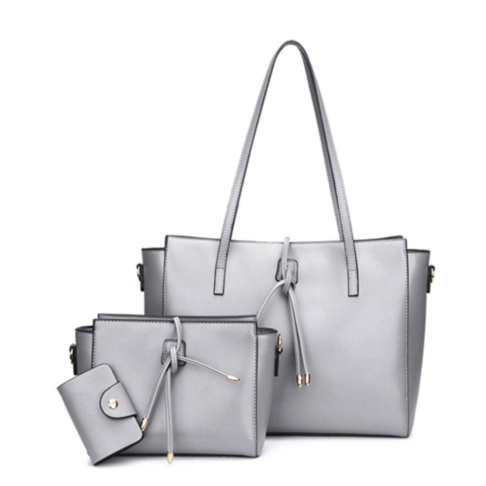 Three Pieces of Simple High-capacity Portable Shoulder Bag Handbag - GRAY