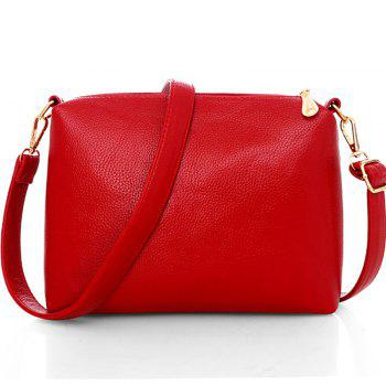 Three Pieces of New Simple Wild Messenger Bag Ladies Handbag - RED