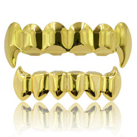 Hip Hop 18K Couleur Plaqué Or Crocs Dents Grillz - Or