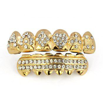 Hip Hop 18K Gold Plated Square A