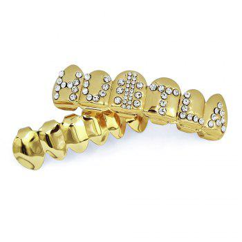 Hip Hop 18K Gold Plated English Letter Teeth Grillz - GOLDEN
