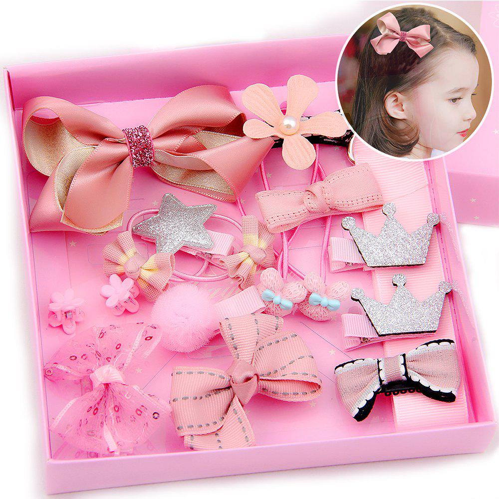 18 pieces Children hair accessories tiara paternity headdress Europe and the United States classic hair bow bow package 246124901