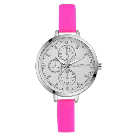 GAIETY G266 Ladies Fashion Analog Quartz Silicone Watch - ROSE