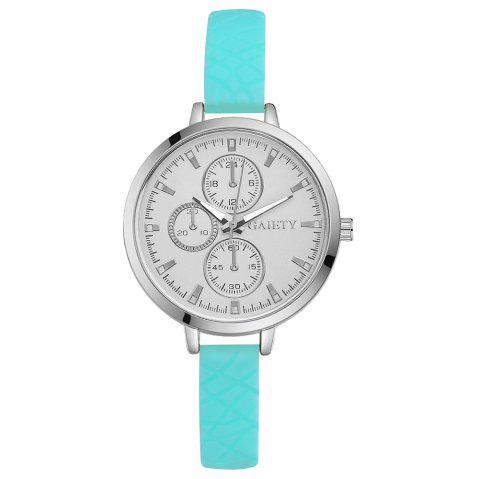 GAIETY G266 Ladies Fashion Analog Quartz Silicone Watch - SKY BLUE