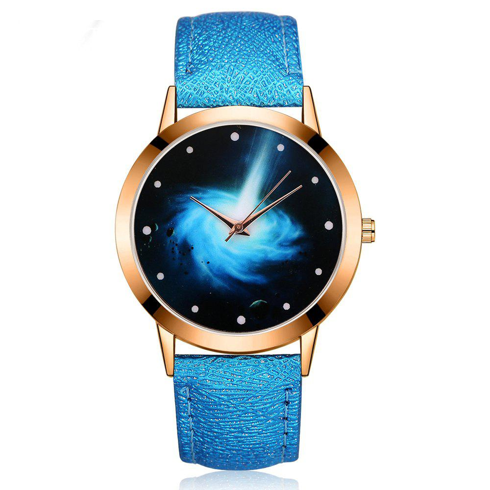 GAIETY G385 Women's Starry Sky Face Leather Band Quartz Watch gaiety g385 women s starry sky face leather band quartz watch