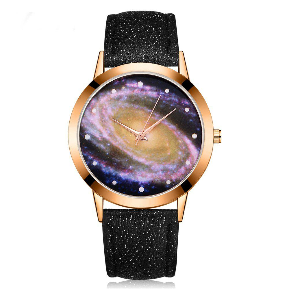 GAIETY G384 Women's Starry Sky Dial Leather Band Dress Watch gaiety g385 women s starry sky face leather band quartz watch