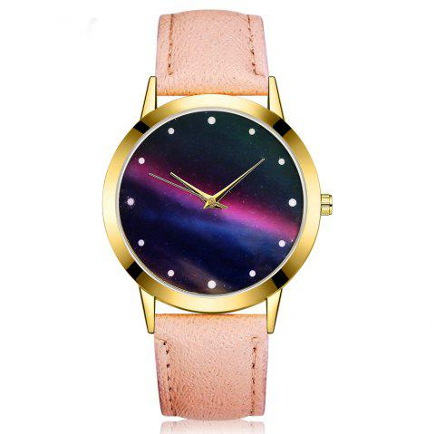 GAIETY G383 Women's Starry Sky Dial Quartz Watches - APRICOT