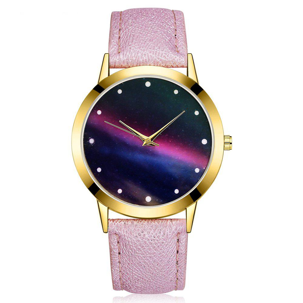 GAIETY G383 Women's Starry Sky Dial Quartz Watches - PURPLE