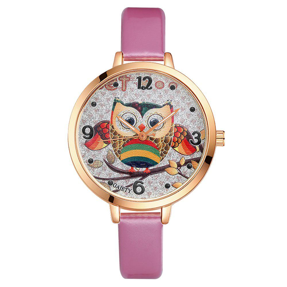 GAIETY G207 Fashion Ladies Leather Band Watch - PINK