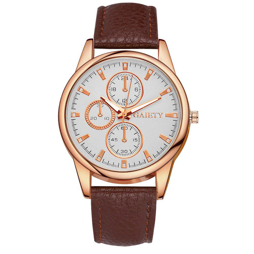 GAIETY G130 Ladies Fashion Leather Watch - BROWN