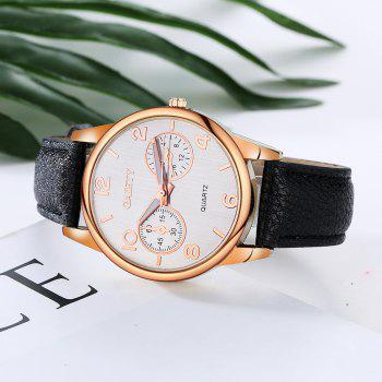 GAIETY G133 Ladies Fashion Leather Watch - BLACK