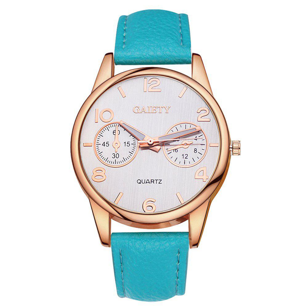 GAIETY G133 Ladies Fashion Leather Watch - WINDSOR BLUE