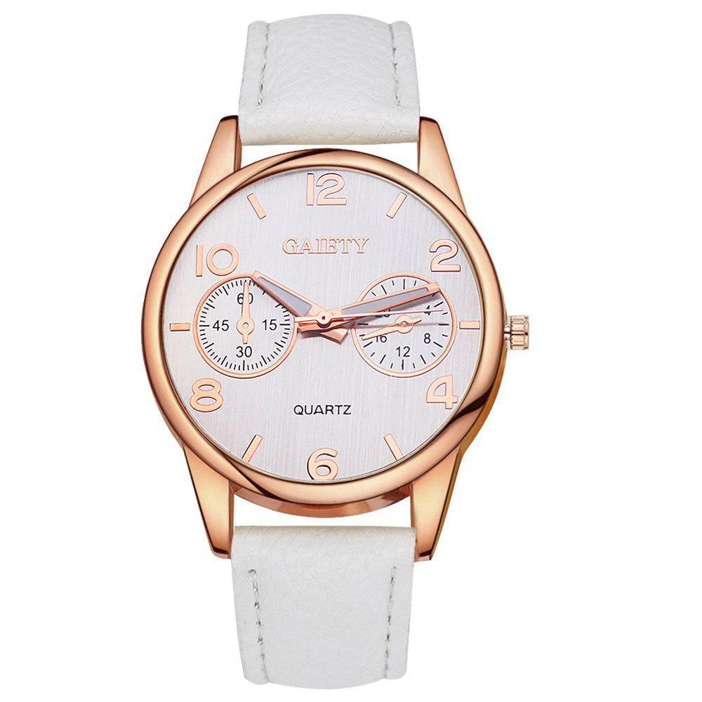 GAIETY G133 Ladies Fashion Leather Watch - WHITE