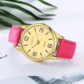 GAIETY G135 Ladies Fashion Leather Watch - ROSE RED