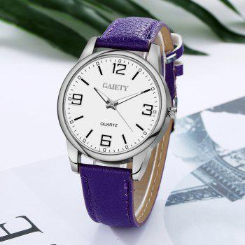 GAIETY G137 Ladies Fashion Leather Watch - PURPLE