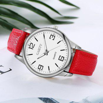 GAIETY G137 Ladies Fashion Leather Watch - RED