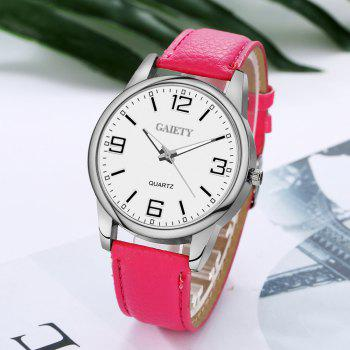 GAIETY G137 Ladies Fashion Leather Watch - ROSE RED
