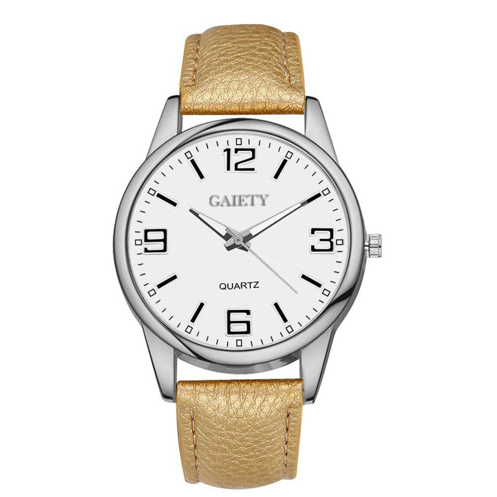 GAIETY G137 Ladies Fashion Leather Watch - GOLDEN