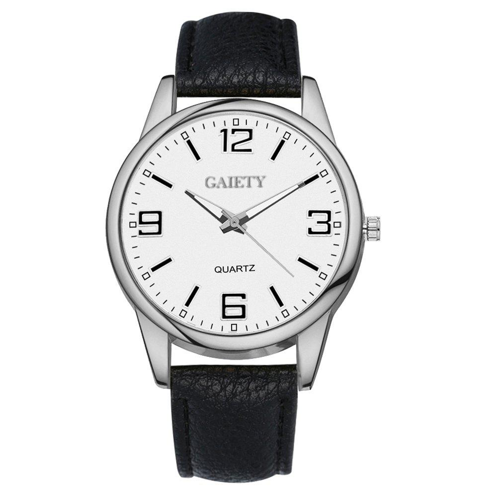 GAIETY G137 Ladies Fashion Leather Watch - BLACK