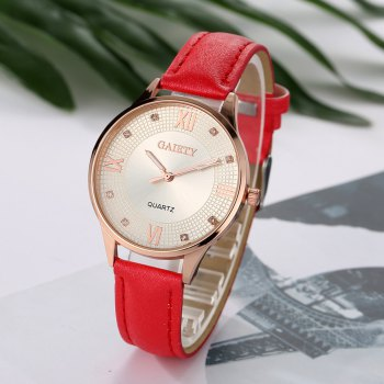 G141 Ladies Fashion Leather Watch - RED