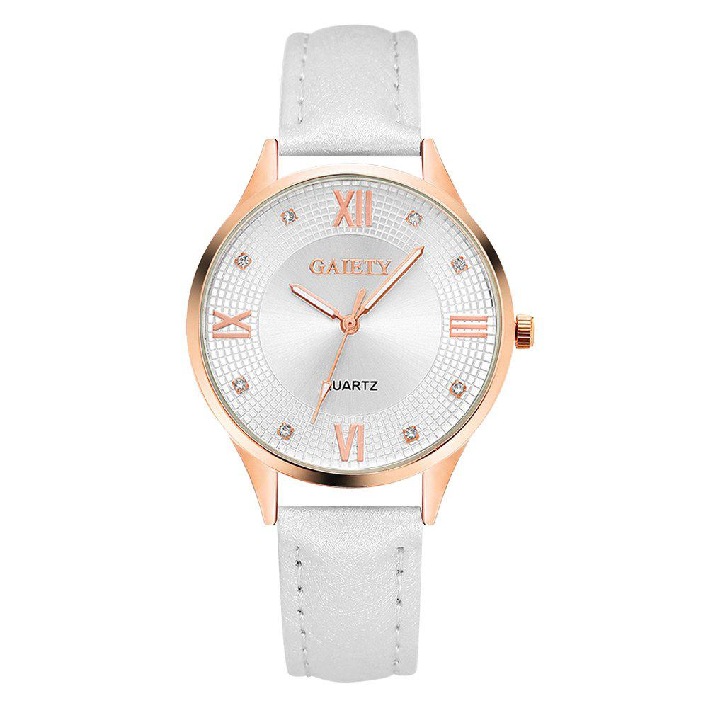 G141 Ladies Fashion Leather Watch - WHITE